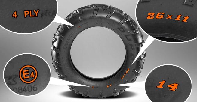lire les dimensions d'un pneu quad