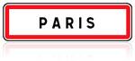Panneau aglomération Paris