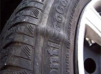 Hernie sur un pneu