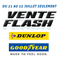 Promo : VENTE FLASH GOODYEAR et DUNLOP