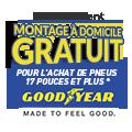 Promo : MONTAGE � DOMICILE GRATUIT avec les pneus GOODYEAR