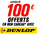 Promo : Jusqu'� 100EUR OFFERTS avec DUNLOP