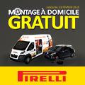 Promo : MONTAGE � DOMICILE GRATUIT avec PIRELLI