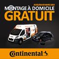 Promo : MONTAGE � DOMICILE GRATUIT avec CONTINENTAL