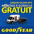Promo : MONTAGE � DOMICILE GRATUIT avec GOODYEAR
