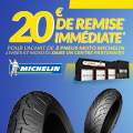 Promo : 20 euros de remise IMMEDIATE avec MICHELIN