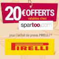 Promo : 20 euros offerts chez spartoo.fr avec PIRELLI