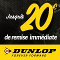 Promo : OFFRE EXCEPTIONNELLE avec les pneus DUNLOP MOTO