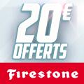 Promo : 20 EUROS DE REMISE CHEZ RUEDUCOMMERCE AVEC FIRESTONE