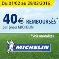 Promo : Jusqu'� 40 euros rembours�s par pneu avec MICHELIN