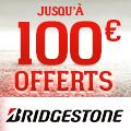 Promo : Jusqu'� 100 euros offerts avec Bridgestone